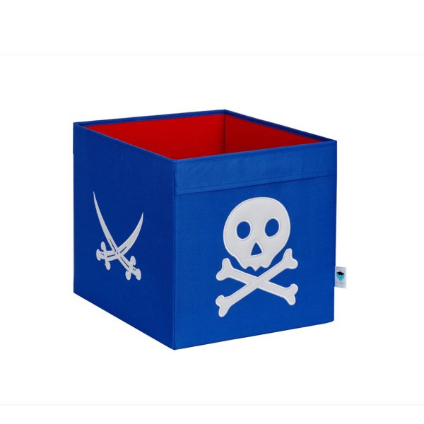 LOVE IT STORE IT - Veľký úložný box Piráti – modrý s bielym pirátom