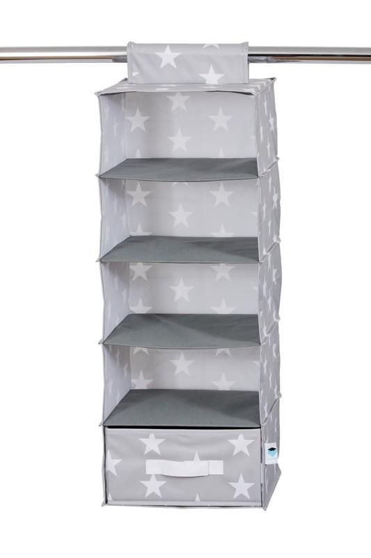LOVE IT STORE IT - závesný úložný box so zásuvkou, hviezda, šedá