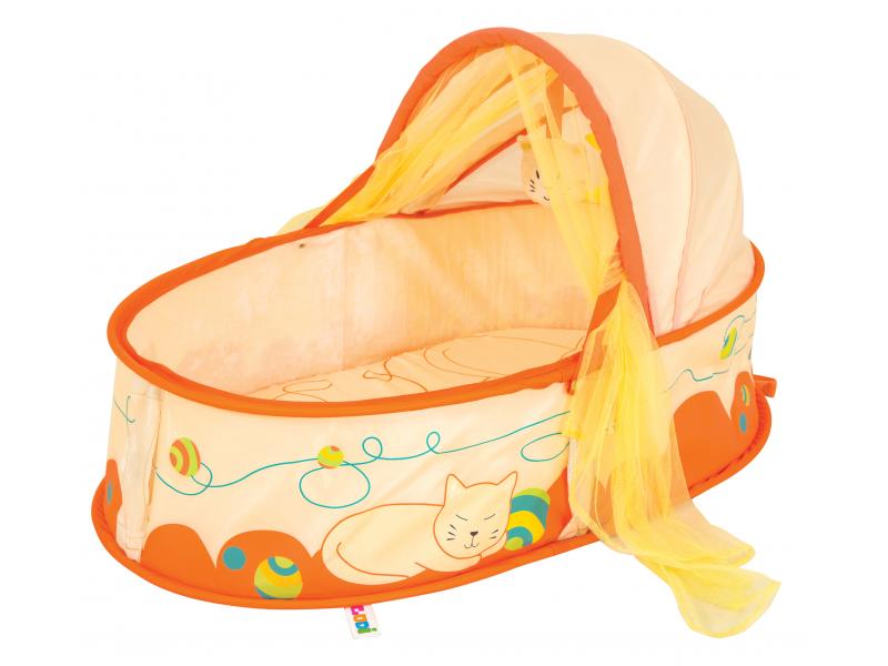 LUDI - Cestovná postieľka pre bábätko Nomad Mačička