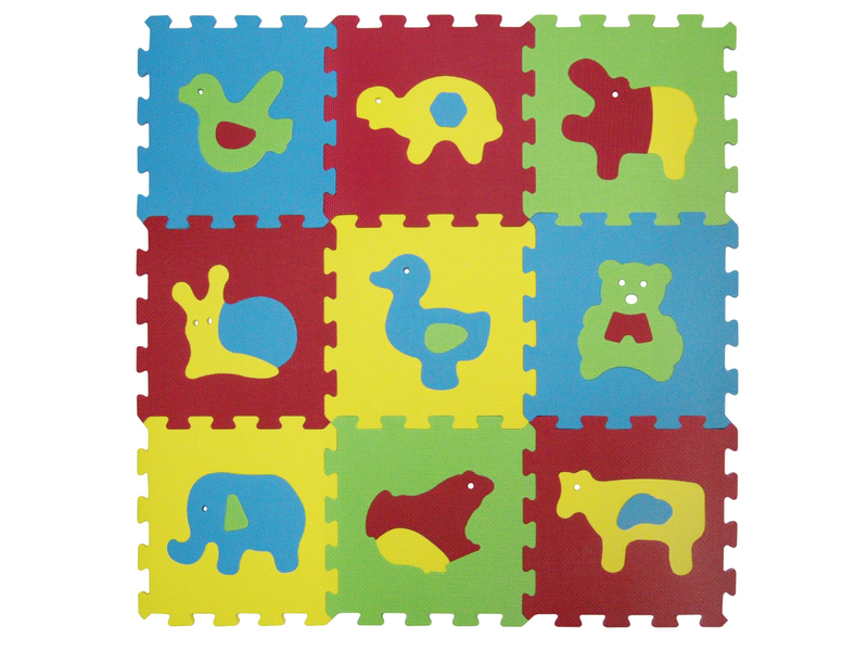 Ludi - Puzzle penové 84x84 cm zvieratka Basic