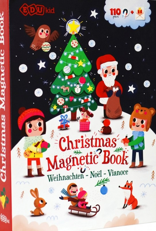 Magnetická kniha Vianoce - Christmas Magnetic Book - Kolektív autorov