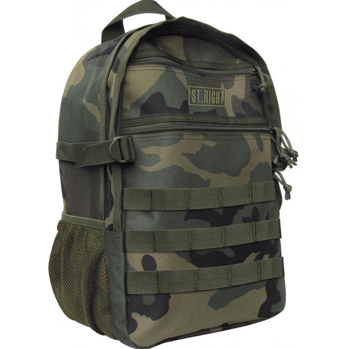 MAJEWSKI - Študentský batoh St.Right Military Woodland BP41