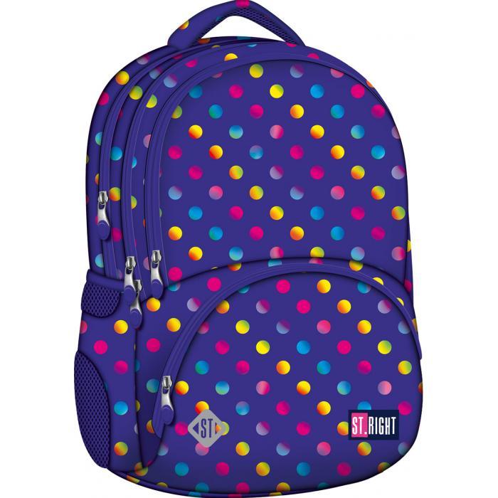 MAJEWSKI - Študentský batoh St.Right Neon Dots BP07