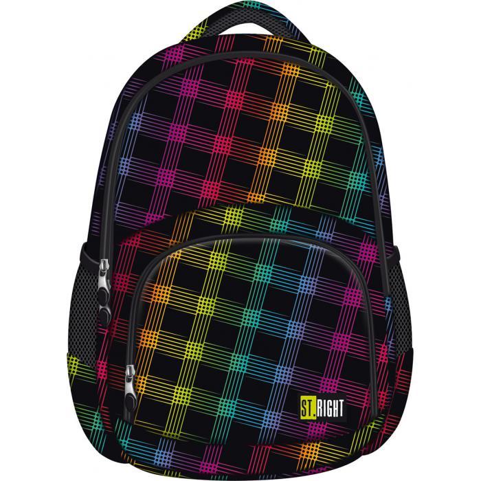 MAJEWSKI - Študentský batoh St.Right Neon Squares BP23
