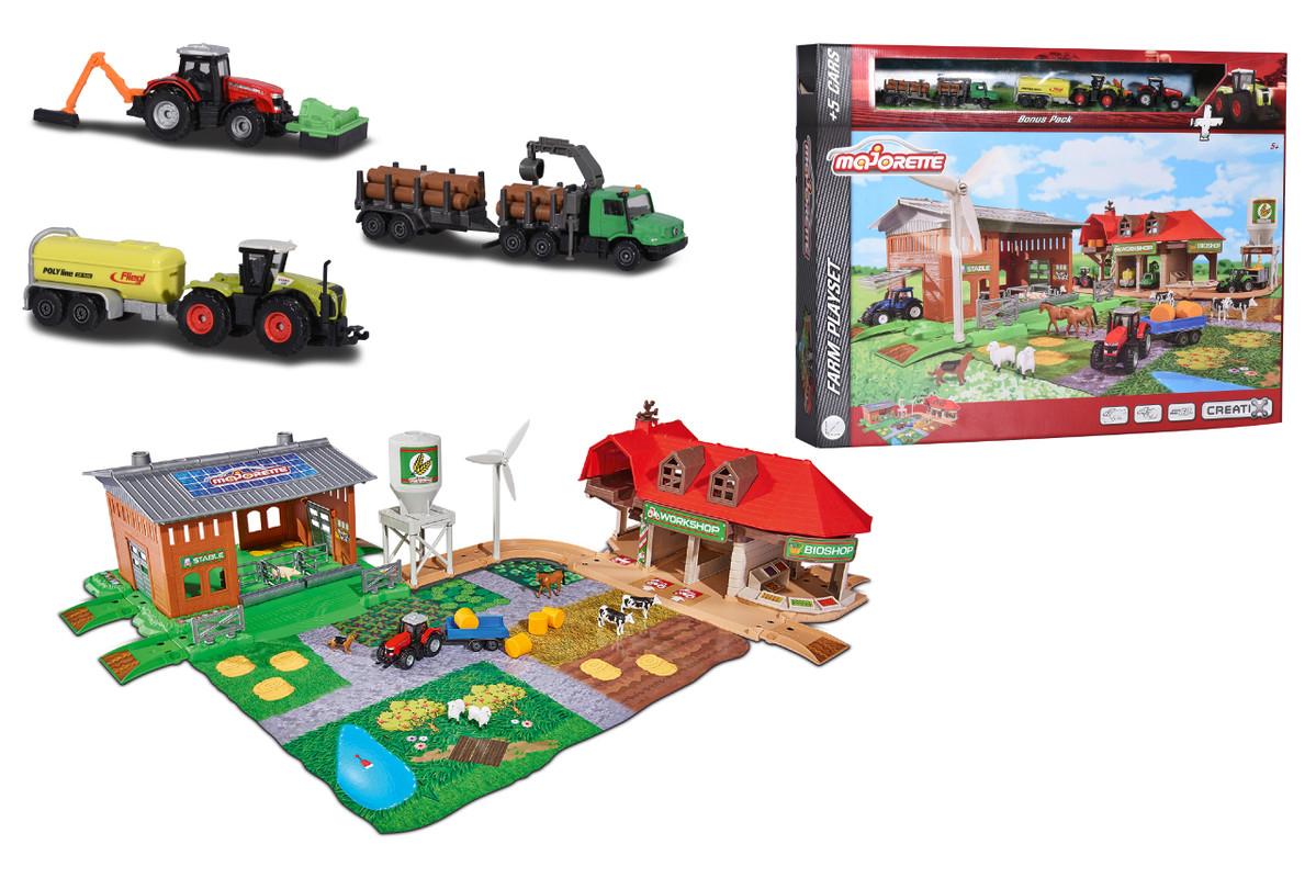 MAJORETTE - Creatix Veľká farma + 5 vozidiel
