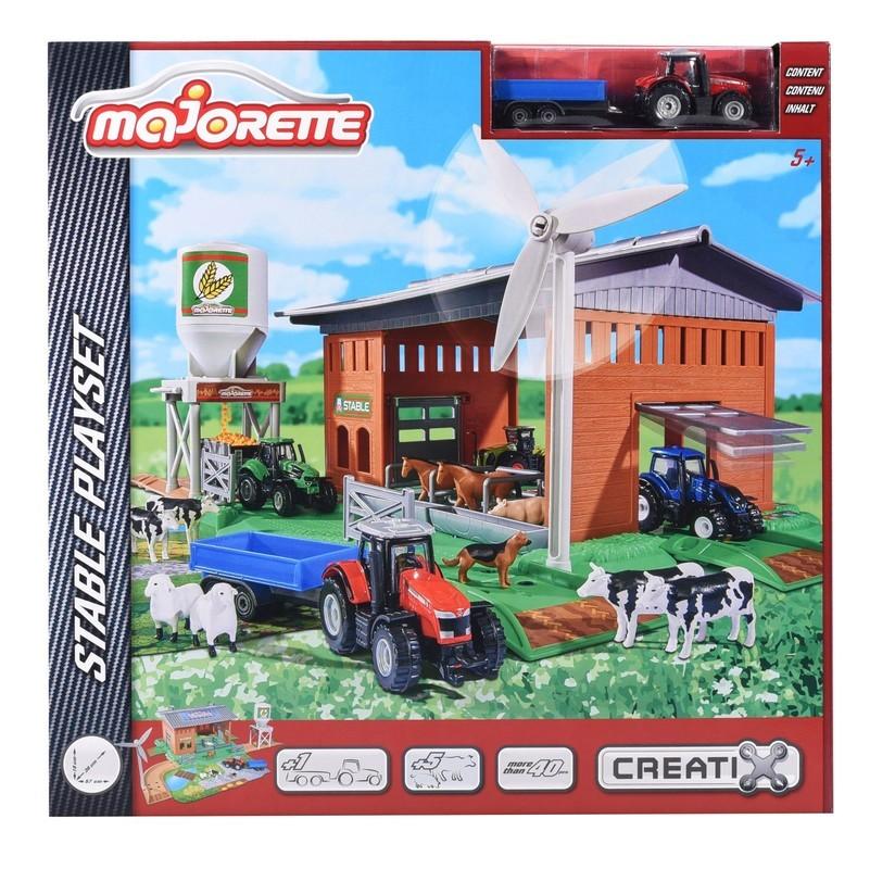 MAJORETTE - Stajňa s traktorom 2050007