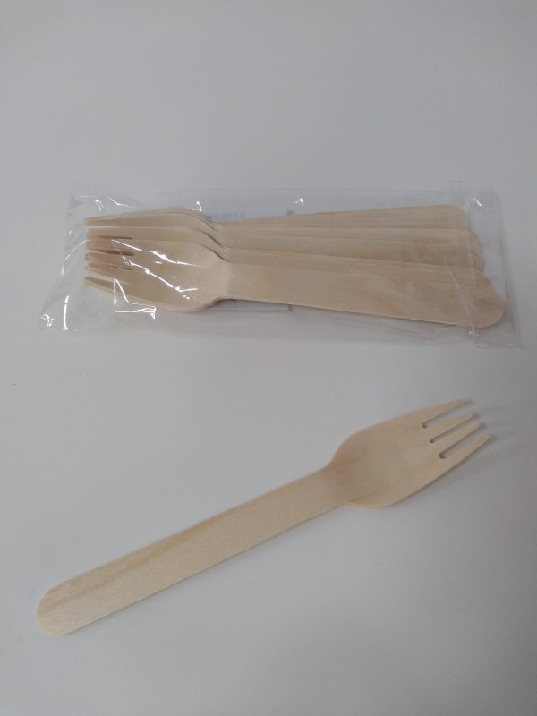 MAKRO - Drevená vidlička 10ks/ 16 cm/