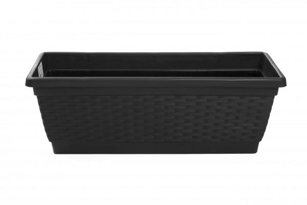 MAKRO - Plastový truhlík 50 cm - hnedý