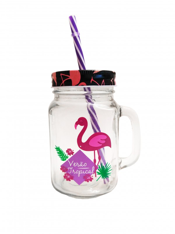 MAKRO - Pohár so slamkou Flamingo