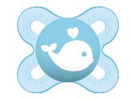 MAM - Symetrický cumlík Mam Start Boy - Veľryba, modrá
