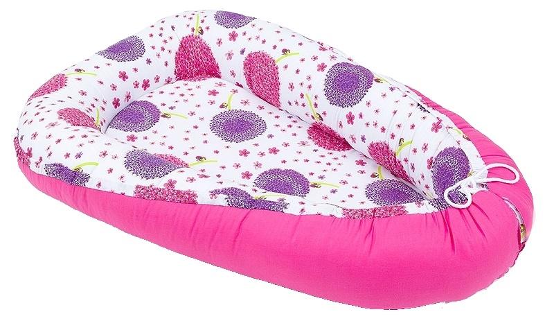 MAMO TATO - Obojstranný kokon pre bábätko. ružový/lúka ružová