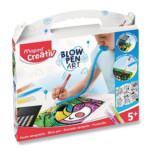 MAPED - Kreatívna sada CREATIV Blowpen Pop Art, sada 6 ks