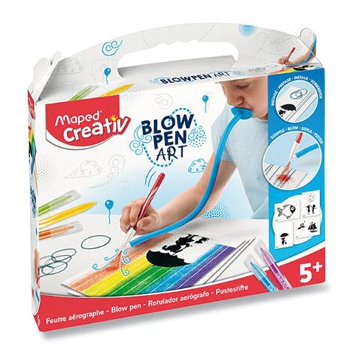 MAPED - Kreatívna sada CREATIV Blowpen String Art, sada 6 ks