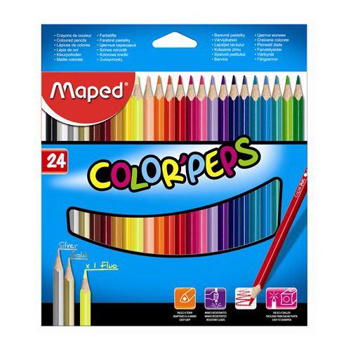 "MAPED - Pastelky trojhranné MAPED ""COLOR`PEPS"", 24 ks"