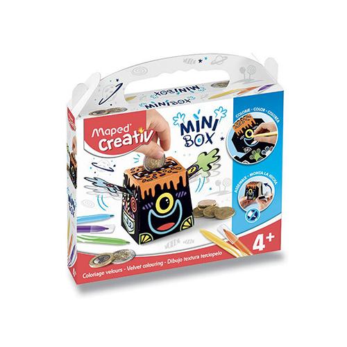 MAPED - Sada CREATIV Mini Box Zamatové maľovanie - Pokladnička