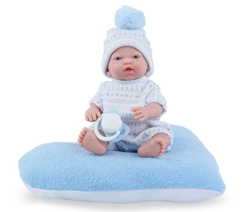 MARINA & PAU - 220-BP Bábika - kúpacie bábätko New Born chlapček s vankúšikom - 21 cm