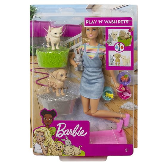 MATTEL - Barbie Kúpanie Zvieratiek