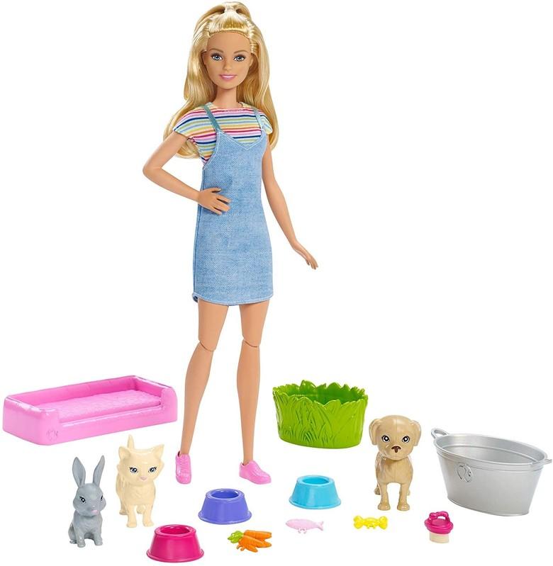 MATTEL - Barbie Kúpanie zvieratiek FXH11