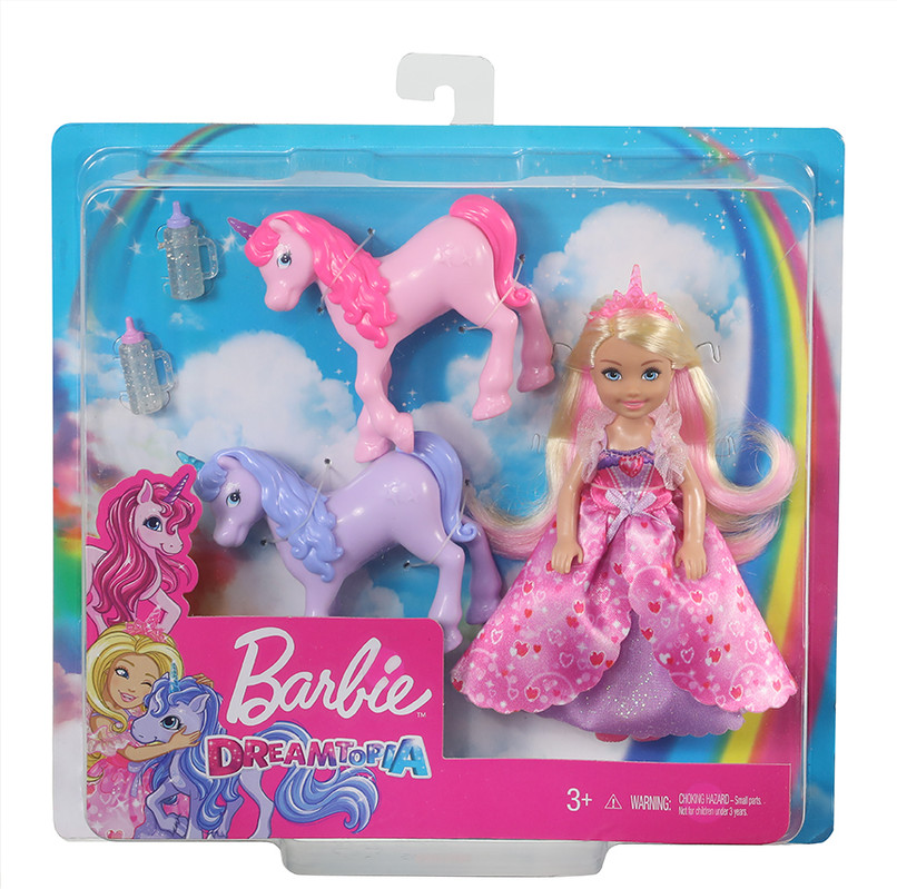 MATTEL - Barbie Princezná Chelsea A Žriebätko Jednorožca