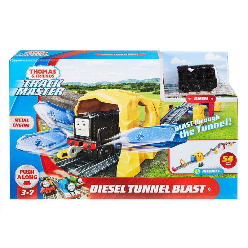 MATTEL - Fisher Price Diesel A Výbuch Tunela Herný Set