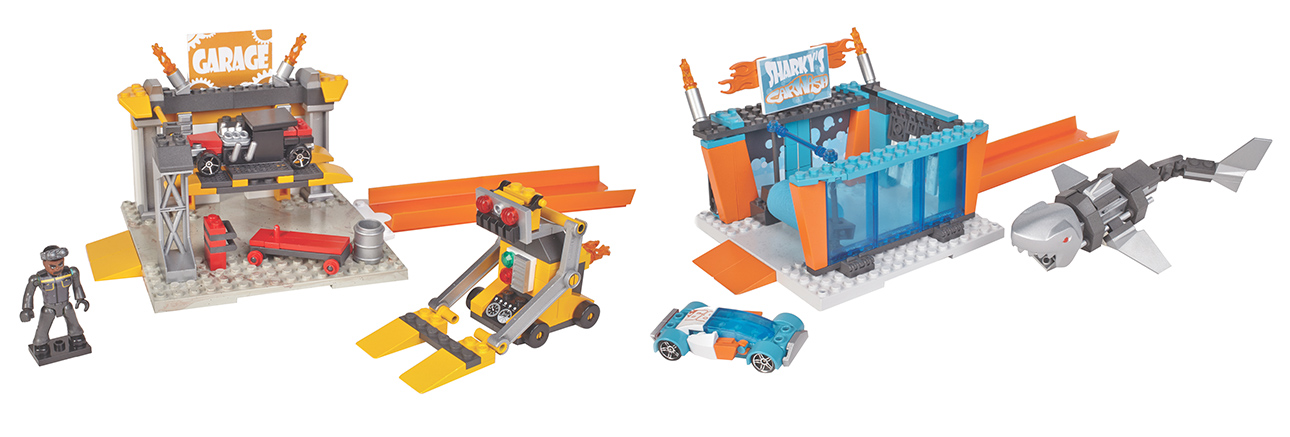 MATTEL - Mega Bloks Hot Wheels malý hrací set, mix produktov