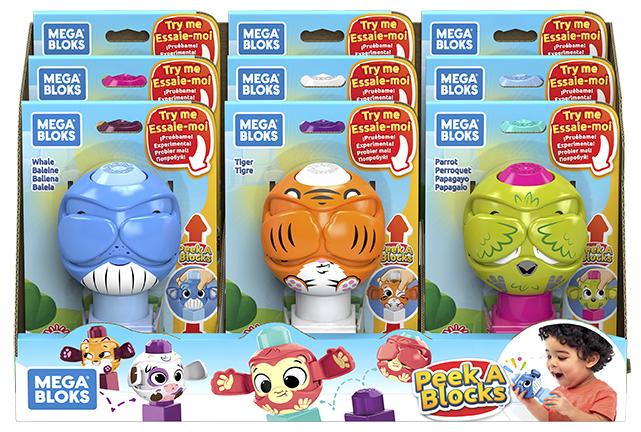 MATTEL - Mega Bloks Peek A Blocks Zvieratko, Mix Produktov
