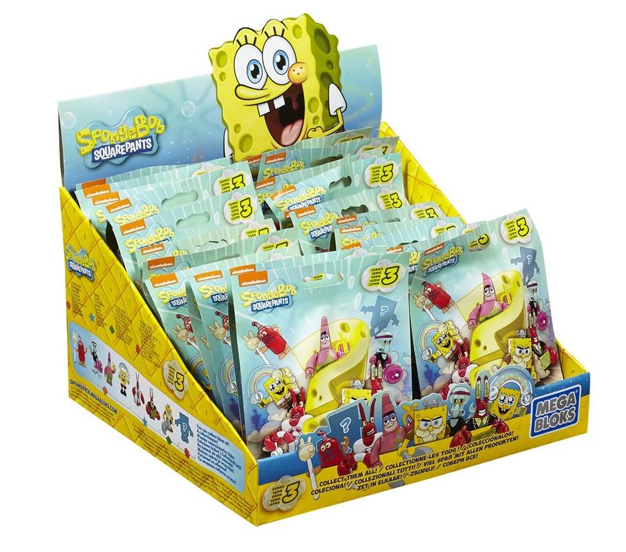 MATTEL - Mega Bloks Sponge Bob Postavičky, Mix Produktov