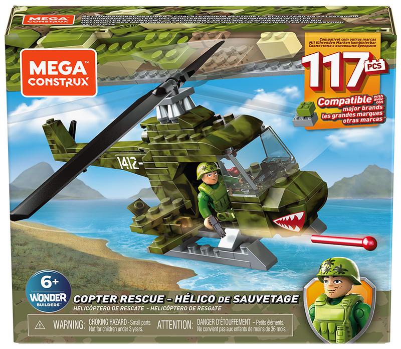 MATTEL - Mega Bloks Vojenská Helikoptéra