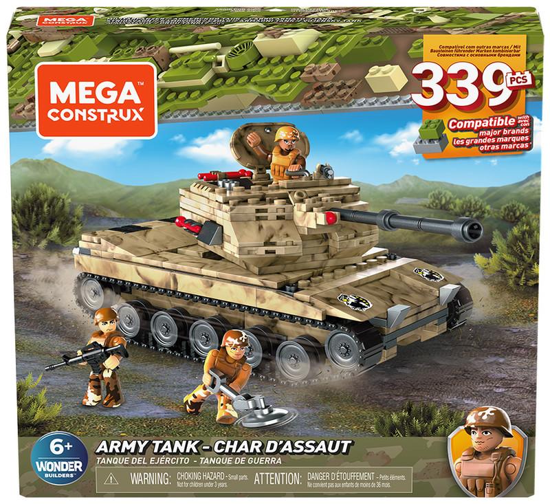 MATTEL - Mega Bloks Vojenský Tank