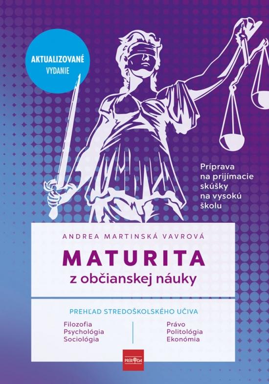 Maturita z občianskej náuky - príprava na prijímacie skúšky na vysokú školu - Andrea Martinská Vavrová