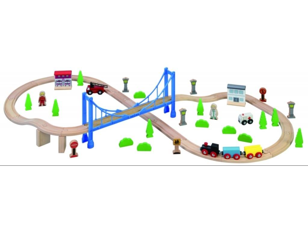 MAXIM - 50138 Vláčiková dráha s Visutým mostom