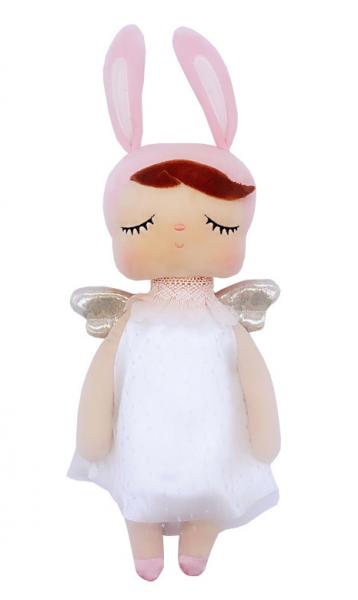METOO - Handrová bábika Anjelik v šatočkách - ružovo/biela