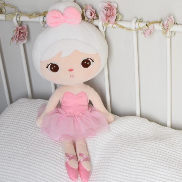 METOO - Handrová bábika Baletka - ružová