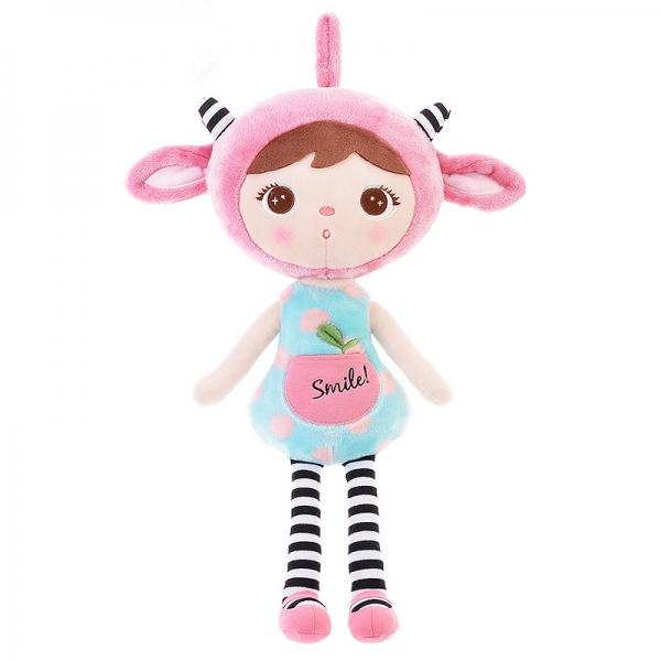 METOO - Handrová bábika Metoo Smile, 50cm - sv. modrá
