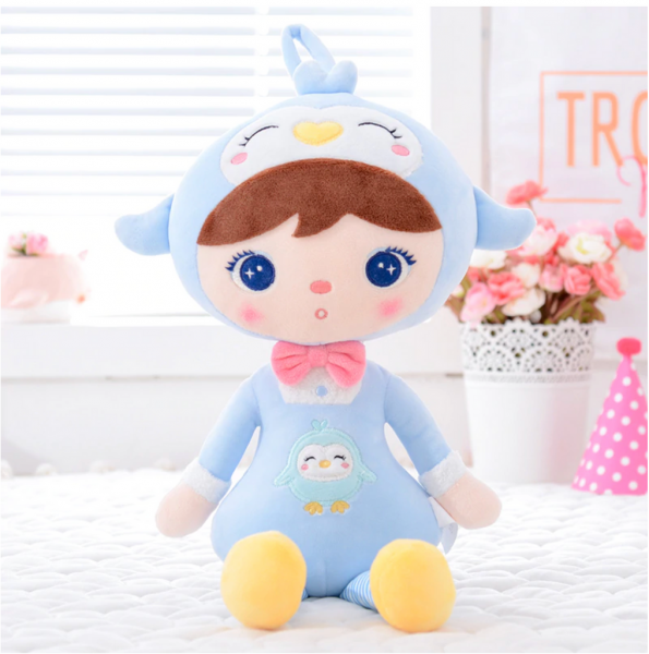 METOO - Handrová bábika Tučniačik - modrá