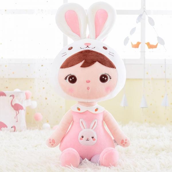 METOO - Handrová bábika Zajačik - ružová