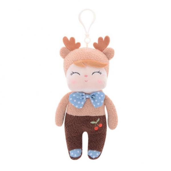 METOO - Mini handrová bábika Metoo s uškami a klipom, Koloušek, 19cm