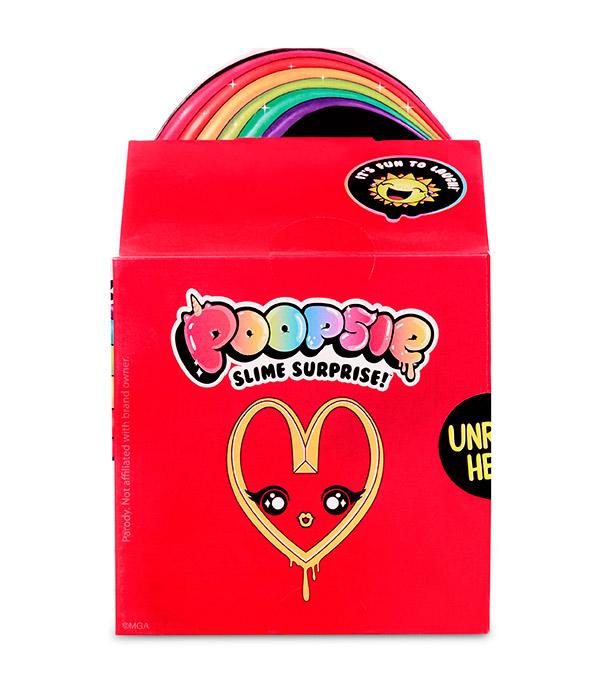 MGA - Poopsie Surprise Balíček Pre Prípravu Slizu Happy Meal, Mix Produktov