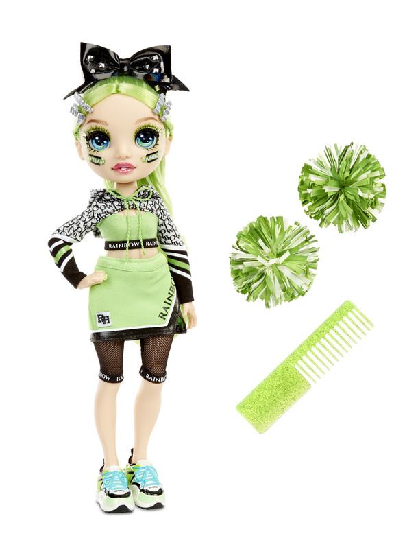 MGA - Rainbow High Fashion bábika - Roztlieskavačka - Jade Hunter (zelená)