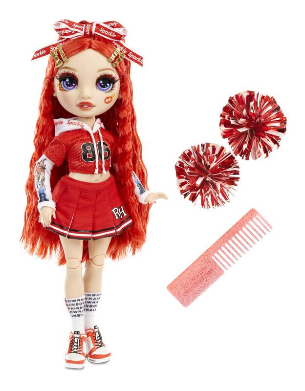 MGA - Rainbow High Fashion bábika - Roztlieskavačka - Ruby Anderson (červená)
