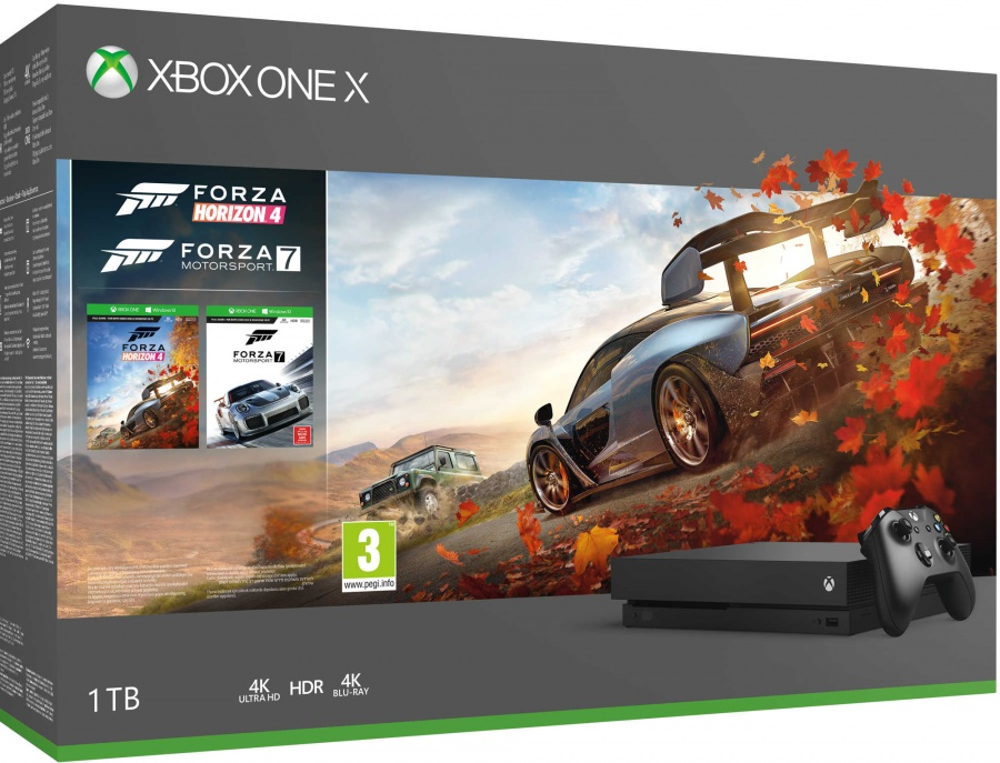MICROSOFT - XONE X 1TB + Forza Horizon 4 + Forza Motorsport 7