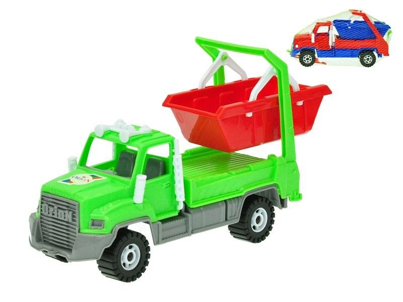 MIKRO TRADING - Nákladné auto s kontajnerom 25cm - červená