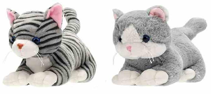 MIKRO TRADING - Plyšová mačka ležiaca 35cm