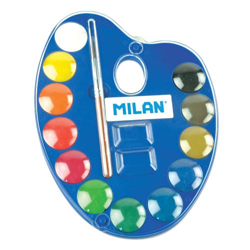 MILAN - Akvarelové farby 12ks + štetec