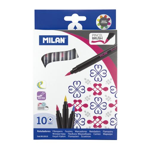 MILAN - Fixy štetcové - sada 10 ks