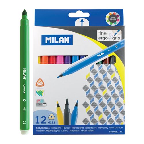 MILAN - Fixy trojhranné 0,2 mm - sada 12 ks