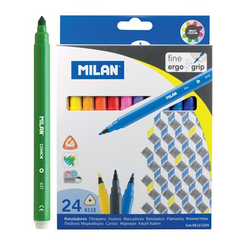 MILAN - Fixy trojhranné 0,2 mm - sada 24 ks