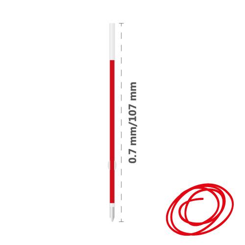MILAN - Náplň gélová Dry-Gel 0,7 mm - červená