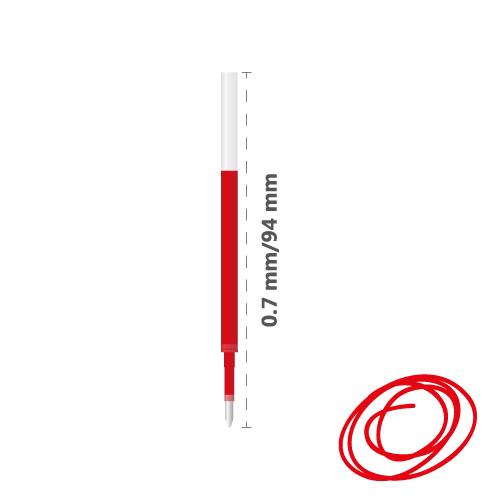 MILAN - Náplň gélová Gel Touch 0,7 mm - červená