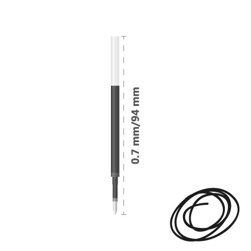 MILAN - Náplň gélová Gel Touch 0,7 mm - čierna